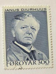 Poštovní známka Faerské ostrovy 1984 J. H. O. Djurhuus, básník Mi# 101