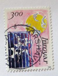 Poštovní známka Faerské ostrovy 1986 Umìní Mi# 136