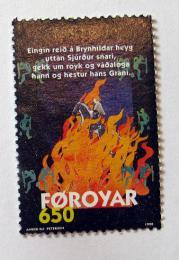 Poštovní známka Faerské ostrovy 1998 Brynhildova balada Mi# 329