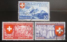 Poštovní známky Švýcarsko 1939 Národní výstava Mi# 338-40 Kat 10€