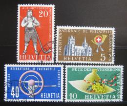 Poštovní známky Švýcarsko 1955 Festivaly Mi# 607-10 Kat 6.50€