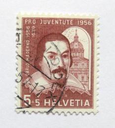 Poštovní známka Švýcarsko 1956 Carlo Maderno Mi# 632