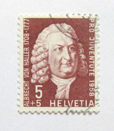 Poštovní známka Švýcarsko 1958 Albrecht von Haller Mi# 663