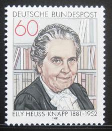 Poštovní známka Nìmecko 1981 Elly Heuss-Knapp Mi# 1082