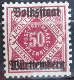 Poštovní známka Wurttemberg 1919 Služební Mi# 143 Kat 7€