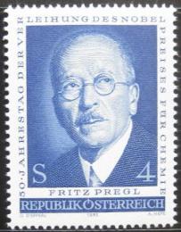 Poštovní známka Rakousko 1973 Fritz Pregl, chemik Mi# 1436