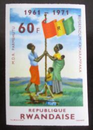 Poštovní známka Rwanda 1972 Nezávislost neperf. Mi# 499 B Kat 10.6€