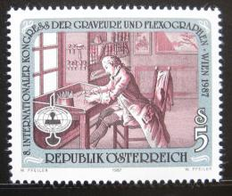 Poštovní známka Rakousko 1987 Kongres rytcù Mi# 1888