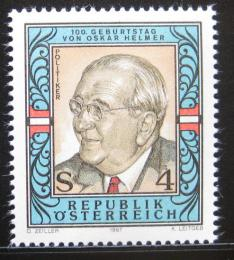 Poštovní známka Rakousko 1987 Oskar Helmer, politik Mi# 1906