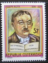 Poštovní známka Rakousko 1994 Joseph Roth, spisovatel Mi# 2137