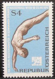 Poštovní známka Rakousko 1974 ME ve vodních sportech Mi# 1461 - zvětšit obrázek