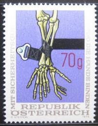 Poštovní známka Rakousko 1975 Používání automobilových pásù Mi# 1483