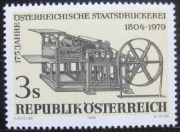 Poštovní známka Rakousko 1979 Tiskaøský stroj Mi# 1620