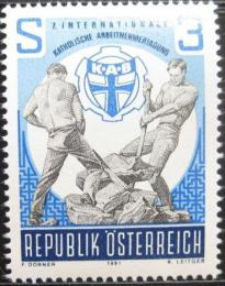 Poštovní známka Rakousko 1981 Katoliètí pracovníci Mi# 1688