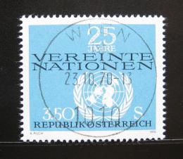 Poštovní známka Rakousko 1970 OSN, 25. výroèí Mi# 1347