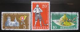 Poštovní známky Švýcarsko 1955 Festivaly Mi# 607-09