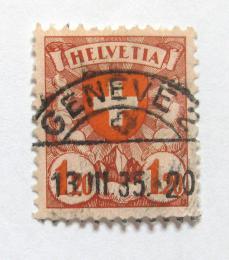 Poštovní známka Švýcarsko 1934 Státní znak Mi# 195 z Kat 7€