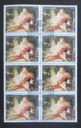 Poštovní známky Paraguay 1988 Umìní, Boucher, blok Mi# 4229