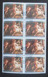 Poštovní známky Paraguay 1988 Umìní, Correggio, blok Mi# 4232