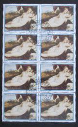Poštovní známky Paraguay 1988 Umìní, Tizian, blok Mi# 4231