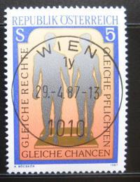 Poštovní známka Rakousko 1987 Rovná práva mužù a žen Mi# 1881