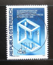 Poštovní známka Rakousko 1981 Matematický kongres Mi# 1680