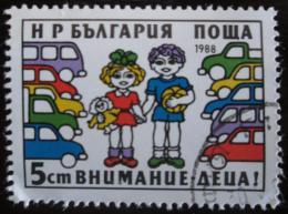 Poštovní známka Bulharsko 1988 Bezpeènost silnièního provozu Mi# 3716