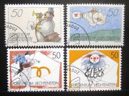 Poštovní známky Lichtenštejnsko 1992 Pozdravy Mi# 1041-44