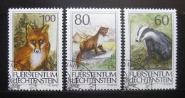 Poštovní známky Lichtenštejnsko 1993 Divoká zvìø Mi# 1066-68
