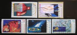 Poštovní známky Nìmecko 1999 Kosmos,na papíøe Mi# 2077-81 Kat 11€