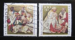 Poštovní známky Nìmecko 1992 Vánoce, umìní Mi# 1639-40