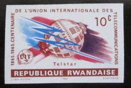 Poštovní známka Rwanda 1965 Výroèí ITU neperf. Mi# 114 B