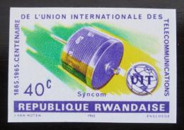 Poštovní známka Rwanda 1965 Výroèí ITU neperf. Mi# 115 B
