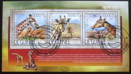 Poštovní známky Guinea 2014 Žirafy Mi# 10367-69 Kat 18€