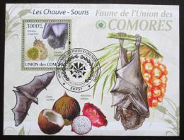 Poštovní známka Komory 2009 Netopýøi Mi# Block 532 Kat 15€