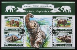 Poštovní známky Maledivy 2015 Sloni Mi# 5629-32 Kat 11€