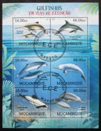 Poštovní známky Mosambik 2012 Delfíni Mi# 5817-22 Kat 14€