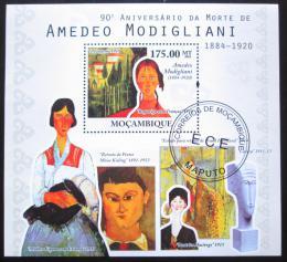 Poštovní známka Mosambik 2010 Umìní, Modigliani Mi# Block 381 Kat 10€