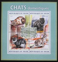 Poštovní známky Niger 2013 Koèky Mi# 2157-60 Kat 10€