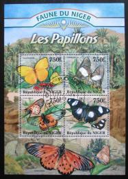 Poštovní známky Niger 2013 Motýli Mi# 2021-24 Kat 12€
