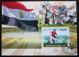 Poštovní známka Togo 2010 Mistrovství Afriky Mi# Block 546 Kat 12€
