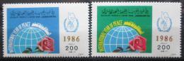 Poštovní známky Libye 1986 Mezinárodní rok míru Mi# 1744-45