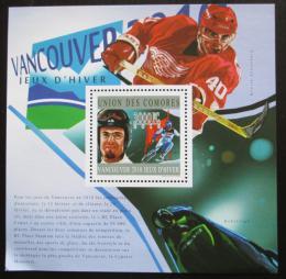 Poštovní známka Komory 2010 ZOH Vancouver Mi# Block 607 Kat 15€