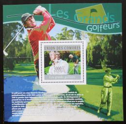 Poštovní známka Komory 2010 Golfisti Mi# Block 587 Kat 15€