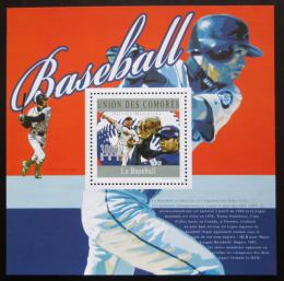 Poštovní známka Komory 2010 Baseball Mi# Block 590 Kat 15€