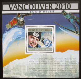 Poštovní známka Komory 2010 ZOH Vancouver Mi# Block 606 15€