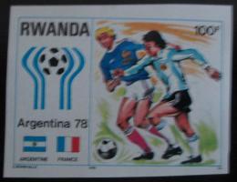 Poštovní známka Rwanda 1978 MS ve gfotbale neperf. Mi# 951 B Kat 15€