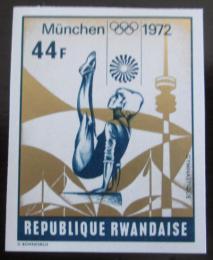 Poštovní známka Rwanda 1972 LOH Mnichov neperf. Mi# 528 B Kat 16.20€
