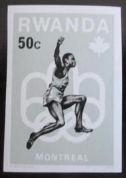 Poštovní známka Rwanda 1976 LOH Montreal neperf. Mi# 801 B Kat 5.80€