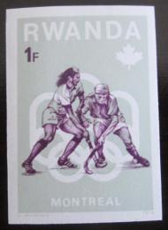 Poštovní známka Rwanda 1976 LOH Montreal neperf. Mi# 802 B Kat 5.80€